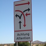 Namibia road sign